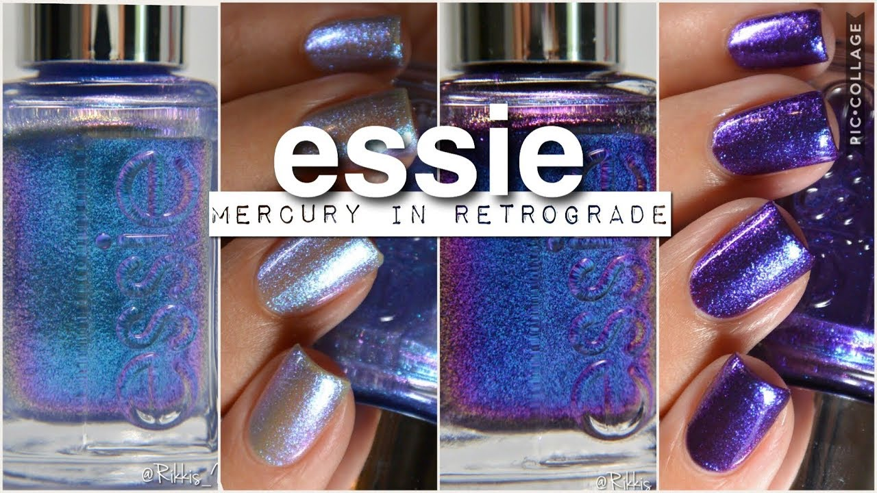 Swatches || Essie Mercury in Retrograde | Rikki\'s Nails - YouTube