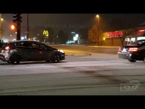 11-11-2019 Denver Co- Veterans Day Slick Morning Commute-Cars Spinning Tires-Accident-Heavy Snow-Plo