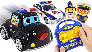 Baby Shark Pinkfong Police RC car dispatched! Catch the villains!  | PinkyPopTOY