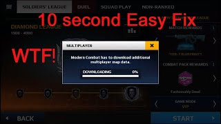 How to fix Multiplayer data fix at 0 in modern combat 5