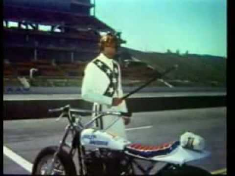 Evel Knievel (played brilliantly by George Hamilton)