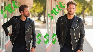$100 VS $1000 LEATHER JACKET (Results Will Amaze You!)