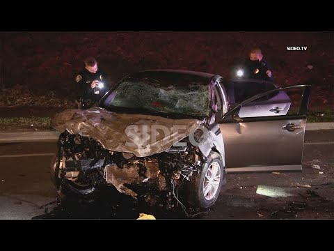 Ocean View Hills : Driver smashes into multiple trees and poles, flees scene