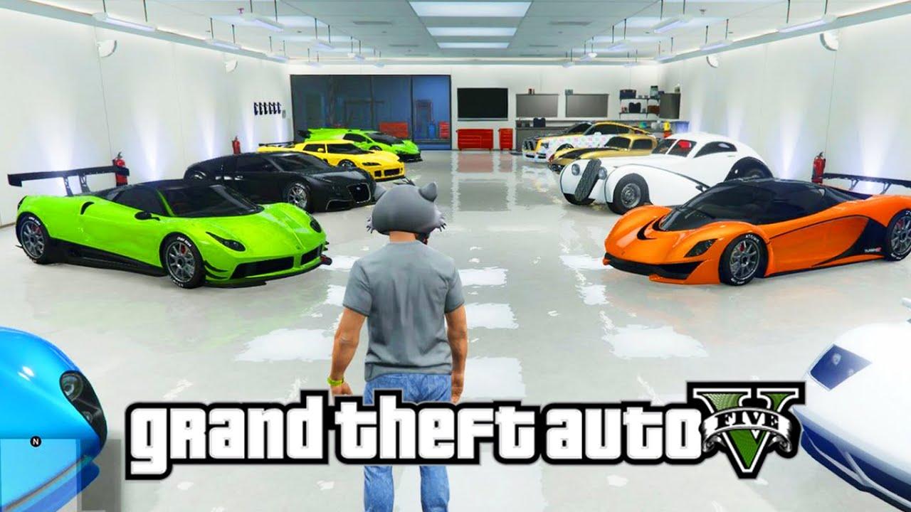 Gta 5 online todos mis coches de lujo mi garaje tour - Garaje de coches ...