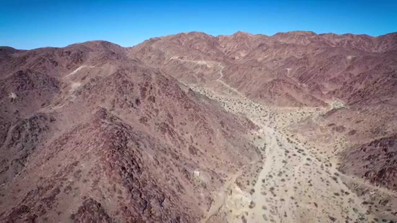 Aerial View of the Old Dale Mining District outside of Joshua Tree