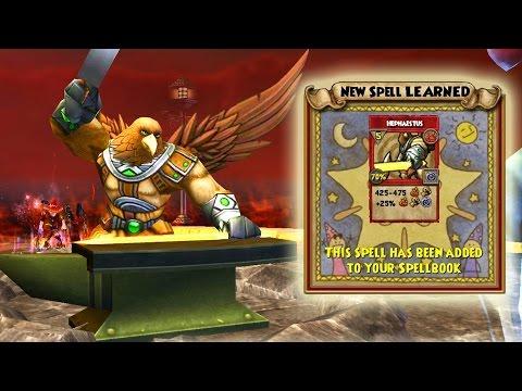 Wizard101: Final Fire Craftable Spell! - Crafting Hephaestus