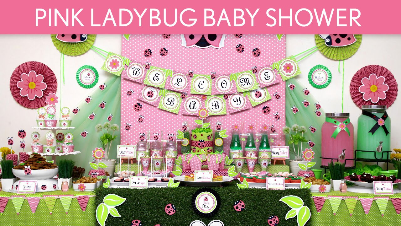 pink ladybug baby shower party ideas pink ladybug s52 youtube