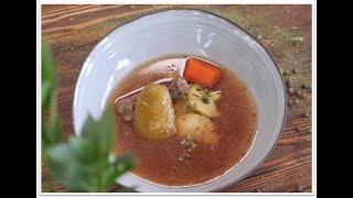 Томатний суп з качиними шиями