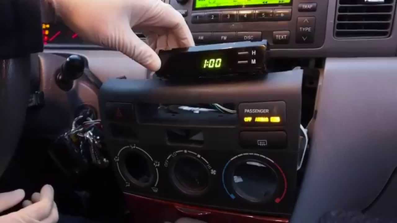 How to fix the clock on your 20032008 Toyota Corolla  YouTube