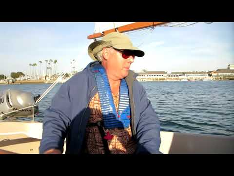 Scamp Sailing with actor friend Jaimz Woovet