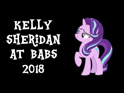 An  with Kelly Sheridan at BABSCon 2018