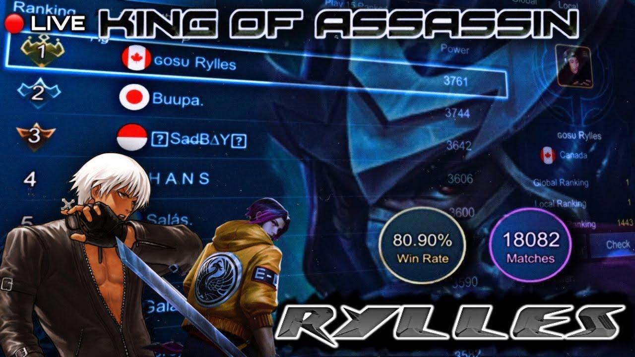 AE RYLLES #2 GLOBAL RANK ROGER GRIND 7-26 MOBILE LEGENDS