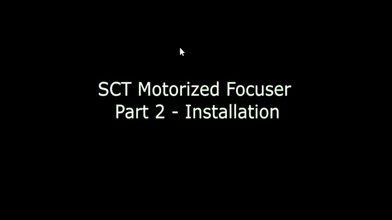 SCT Motorized Focuser Part 2 - Installation