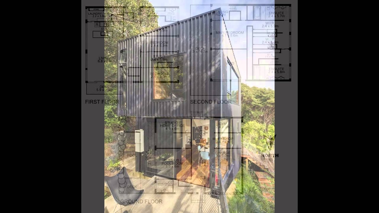 Shipping container house plans youtube for Plan container