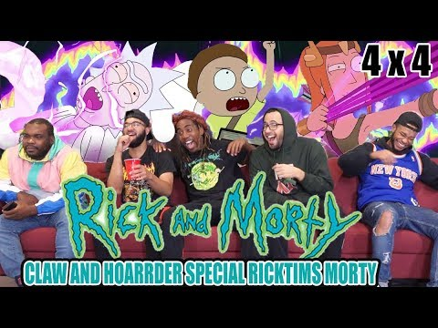 "Rick And Morty 4 X 4 Reaction! ""Claw And Hoarder Special Ricktims Morty"""