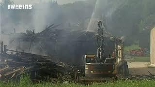 Brand auf Gestütshof St.Johann