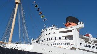 Queen Mary Hotel Review/Tour, Ship Cabin A127, Long Beach, California