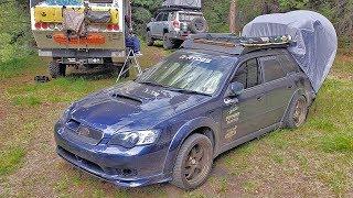 THE MOST VERSATILE SUBARU EVER? - Overland AWD Subaru Legacy Wagon Right Hand Drive Car Camper
