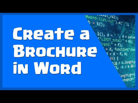 Create A Brochure In Word - How To Make A Brochure On Word