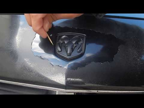How To Remove Plasti Dip Perfectly Around A Car Emblem