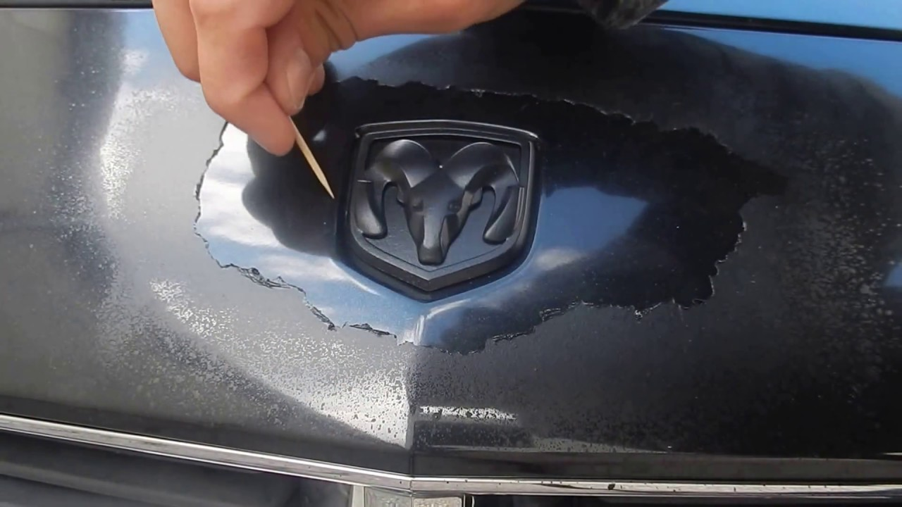 How To Remove Plasti Dip Perfectly Around A Car Emblem