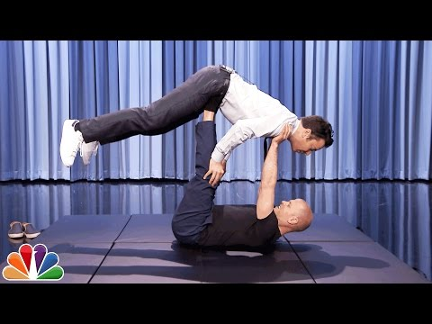 Tim Ferriss and Jimmy Do AcroYoga