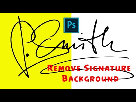 Easy way to Remove Background of Signature | Photoshop Tutorials 2020
