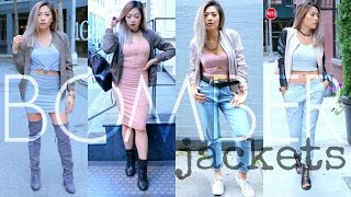 fall fashion lookbook 2016   how to style a bomber jacket
