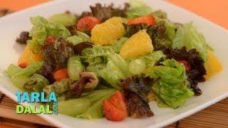 Fruity Lettuce Citrus Salad By Tarla Dalal