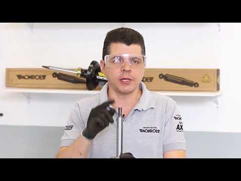 Montagem do amortecedor dianteiro do Volkswagen Gol