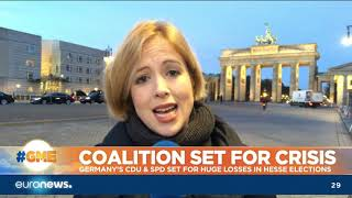 #GME | Germany's CDU & SPD set for huge losses in Hesse Elections