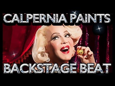 Calpernia Paints Backstage @  Booty Underground Burlesque 20160126
