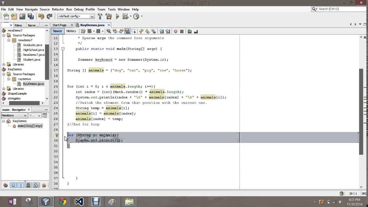 Shuffling Arrays Java