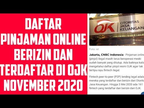 Daftar Pinjol Berizin Terdaftar Ojk 2020 November 2020 Youtube