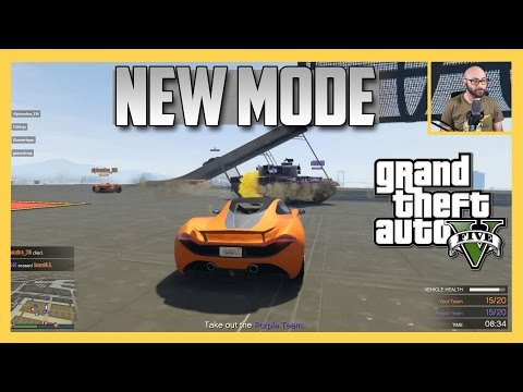 New GTA Mode: Vehicle Vendetta! Battle with mounted guns and power ups.