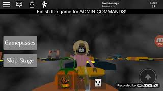 Playing Halloween obby on roblox (it's fun)