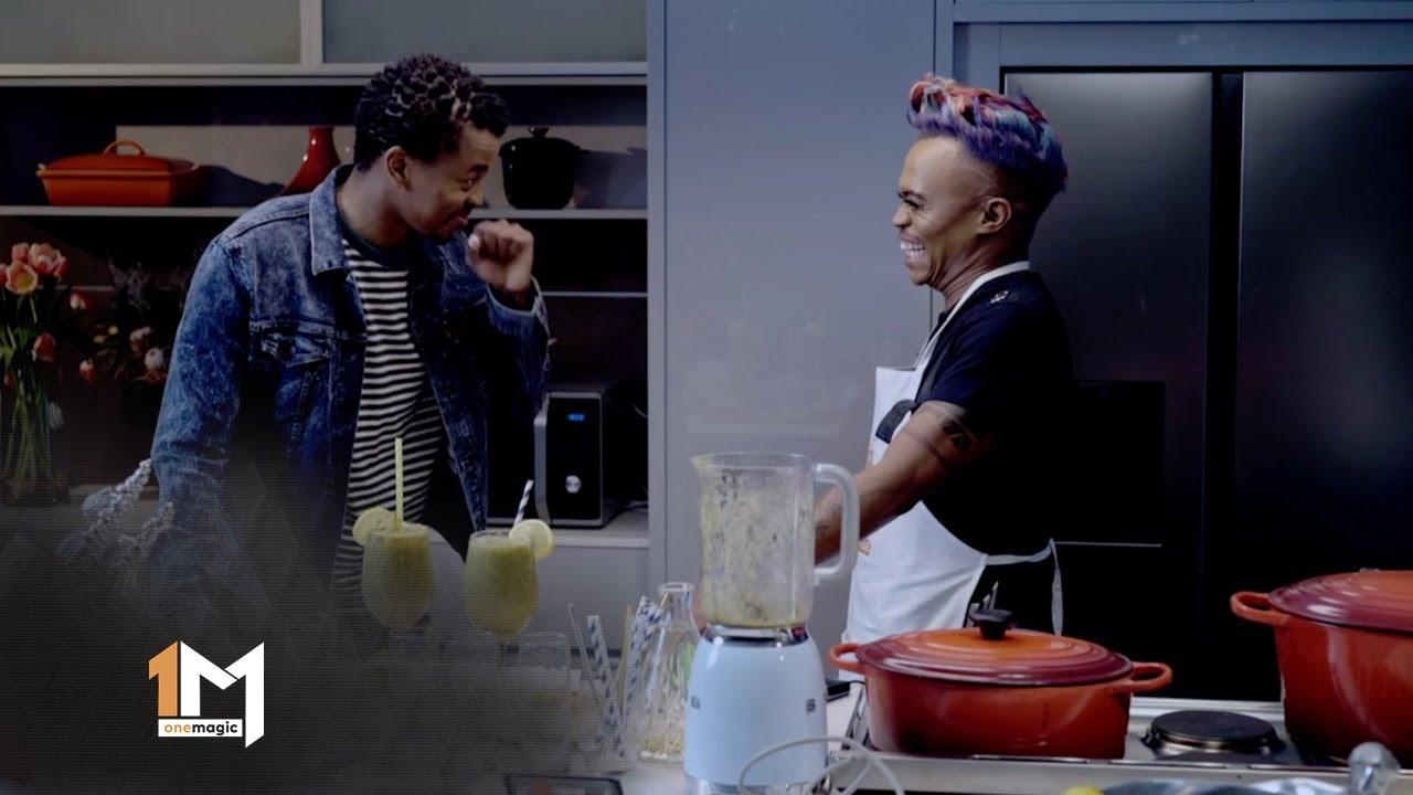 Mpho Popps Indulges In Somizi's Mogodu – Dinner At Somizi's | 1 Magic