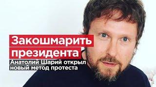 ЗАКОШМАРИТЬ ПРЕЗИДЕНТА. Анатолий Шарий открыл новый метод протеста.