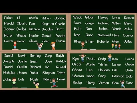 BOY Names! 100 Most Popular Baby Boy Names in English | English Pronunciation