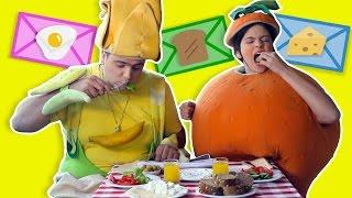 فوزي موزي والمندلينا - صور الأطفال في وجبة الإفطار - Kids pictures at breakfast