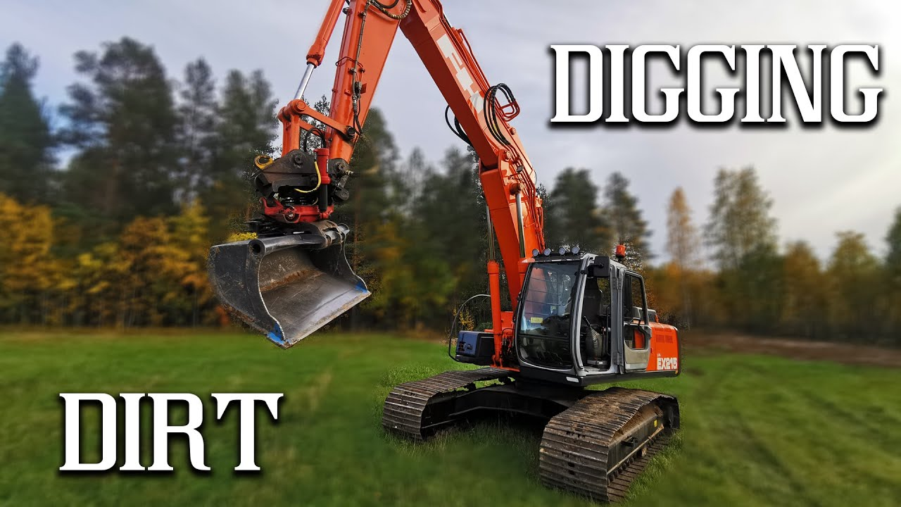 Hitachi EX215 [NEW OPERATOR & ROTOTILT & TRIPLEBOM] Sorting Stones & Stumps & Dirt