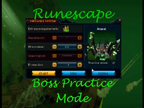 Runescape - Boss Practice Mode and Instancing
