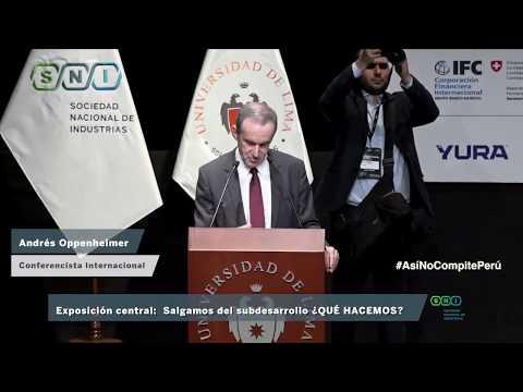 Exposición de Andrés Oppenheimer en el Foro Industrial 2018