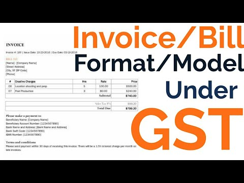 invoice under gst format model tax invoice bill of supply