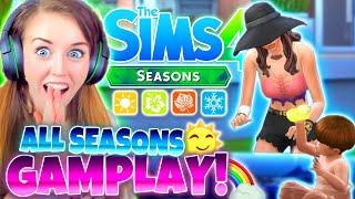 KILLING ALI... 😅 ALL 4 SEASONS GAMEPLAY! 🌸☀️🍂❄️ The Sims 4 Seasons!