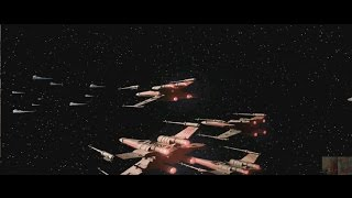 Star Wars Classic Games: X-wing Vs TIE Fighter - Balance of Power (1997) Intro Crawl & Battle