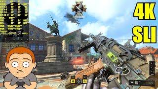 Call Of Duty Black Ops 4 Pc 4K GTX 1080 TI SLI 8700K Frame Rate Performance Test