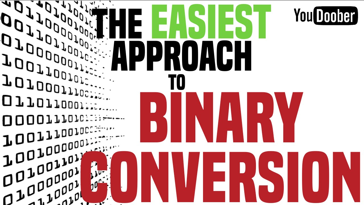 How To Convert Binary To Decimal Tutorial The Easy Way Youtube