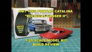 AMT 1962 PONTIAC CATALINA POLYGLAS GASSER II 1:25 MODEL KIT REVIEW BUILD AMT1092