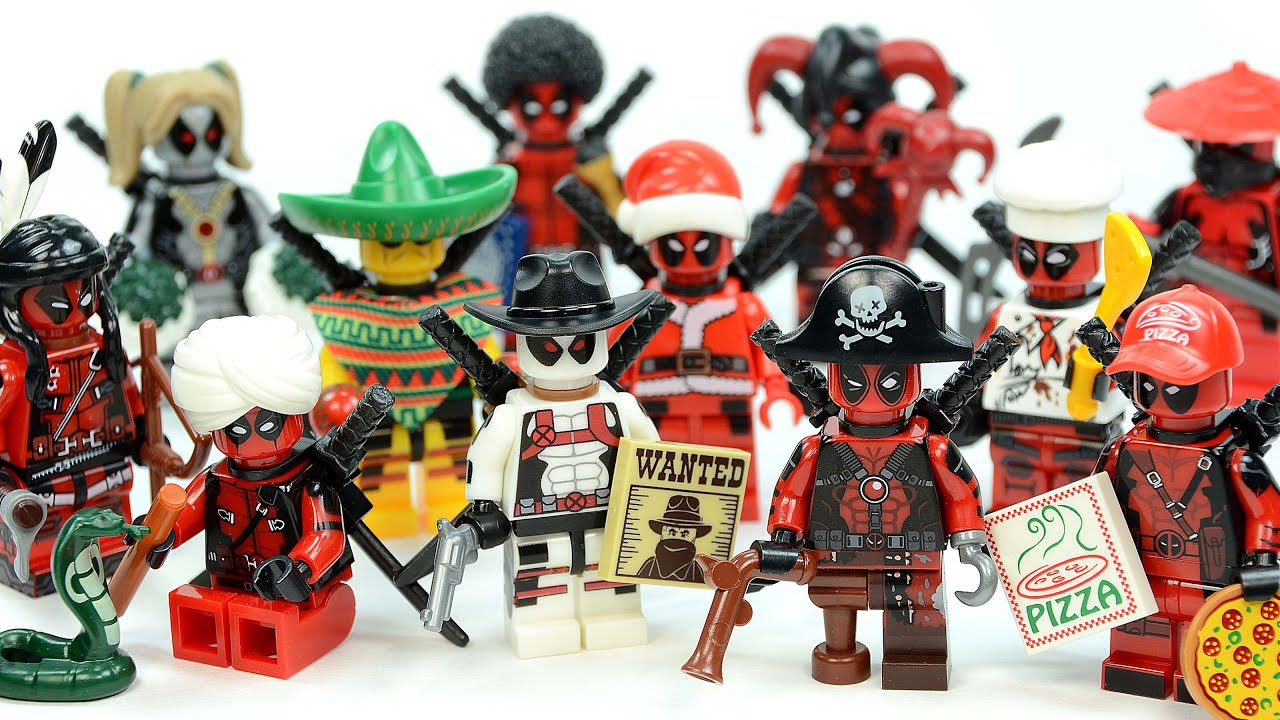 Lego Marvel Moc: LEGO Deadpool In Silly Ridiculous Outfits My Own Creation